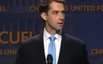 Senator Tom Cotton supports U.S recognition of Israel's sovereignty over the Golan Heights